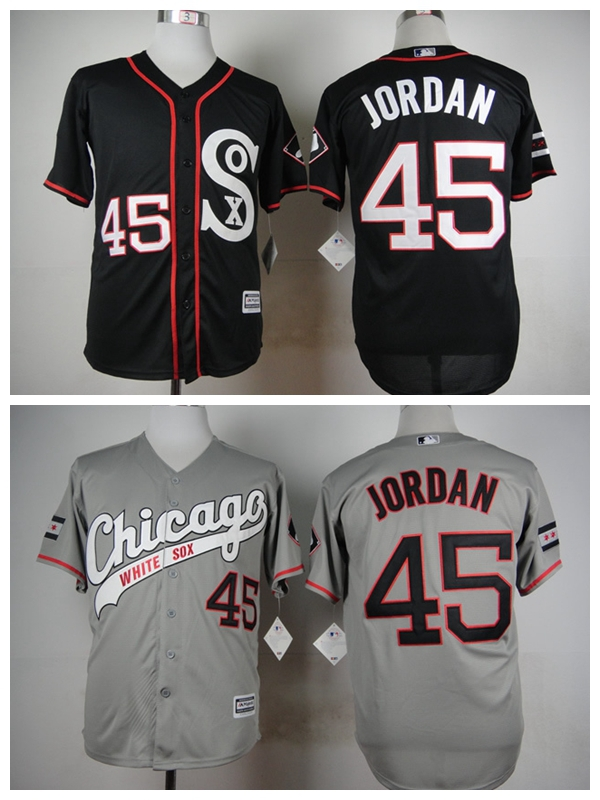 9630b4a5b81f New Cheap Mens 2015 New Fabrics Chicago White Sox Jerseys 45 Michael Jordan  Baseball Jersey .
