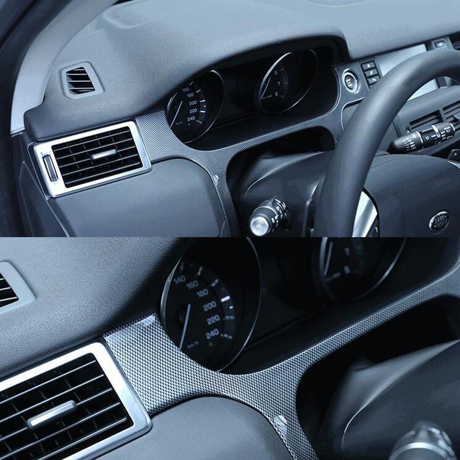 Fit pour Land Rover Discovery Sport 2015-2017 Auto voiture tableau de bord Instrument cadre bande garniture style autocollant ABS Fiber de carbone