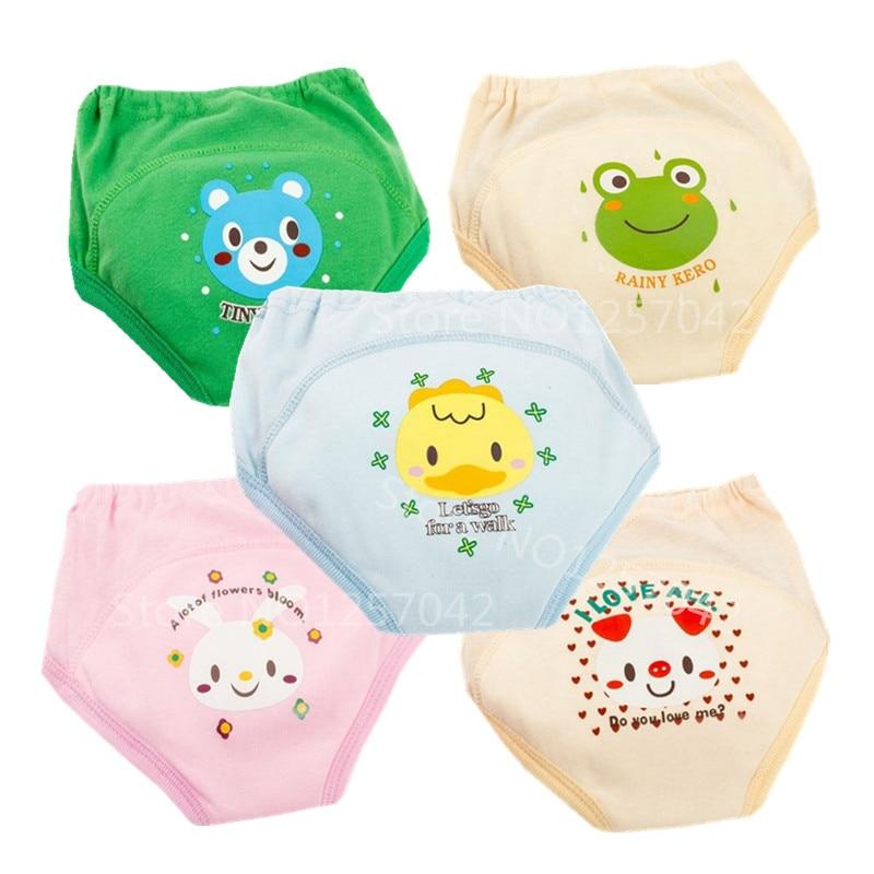 Детские водонепроницаемые тренировочные штаны для малышей, тканевые подгузники, многоразовые детские трусики, моющийся хлопковый подгузн...