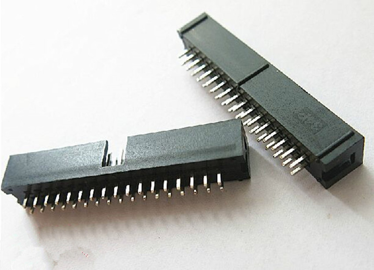 10PCS DC3 34 Pin 2x17Pin Double Row Pitch 2.54mm Double-spaced Straight Pin Male IDC Socket Box Header Connector High Quality
