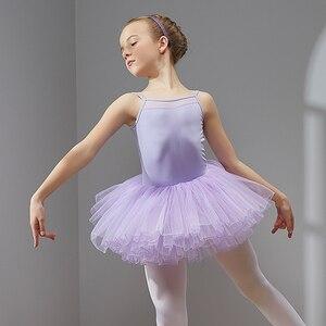 Image 5 - Ballet Jurk Dans Jurk Tutu Jurk voor Meisjes Kids Kinderen Hoge Kwaliteit Korte Mouwen Tule Dans Slijtage