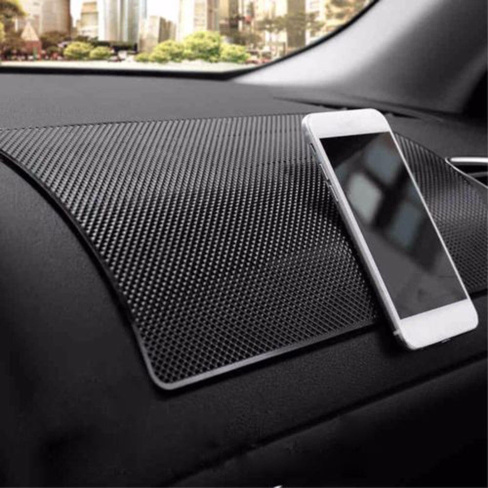 1pc New Car Interior Mat Non Slip PVC Dashboard Dash Grip Mat Keys Phone Coins Holder 20x13cm
