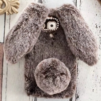 Winter Warm Hairy Phone Case For Motorola X4Plus X4 G6Plus G5SPlus G6 G5S Plush Rabbit Fur