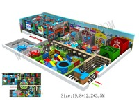 Multifunctional Children Playground With Roads&House&Soft Play Area HZ 8330
