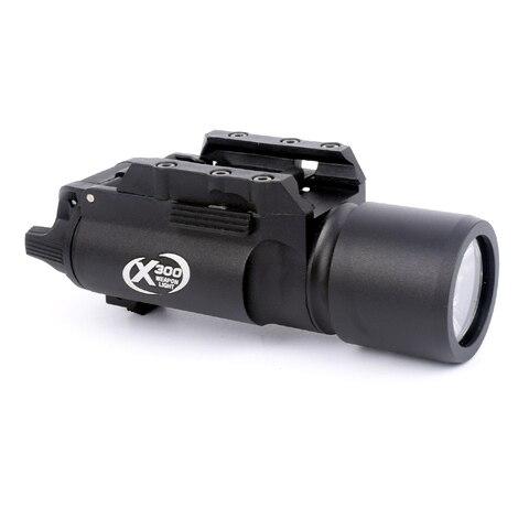 x300 arma tatica luz pistola de luz led 180 lumens alta saida lanterna caber 20mm