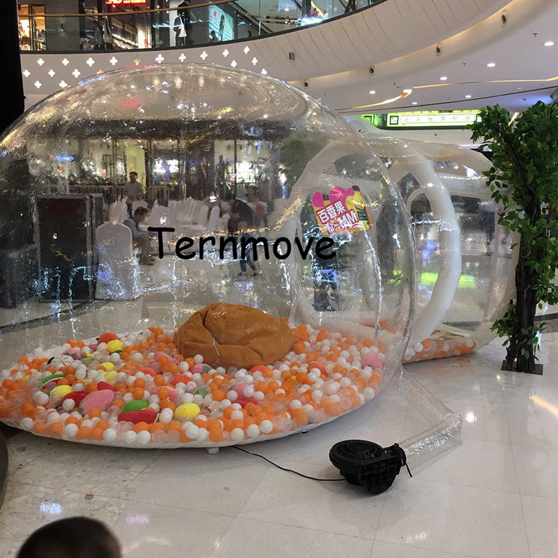 Inflatable Bubble camping Tent,outdoor clear inflatable travel lightweight tents,gazebo garden tents,trade show and event tents
