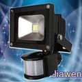 10 pçs/lote, 30 W Pir detetive Sensor LED Flood luz Preto Outdoor Holofote 85 V-265 V FEDEX