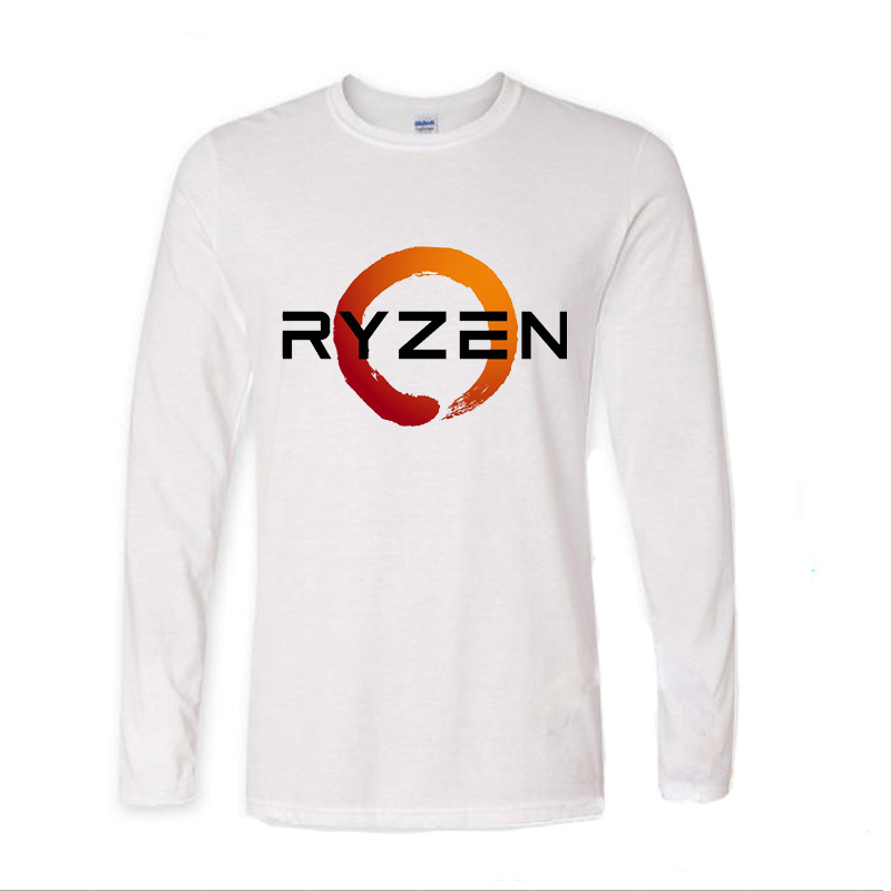 2017 Funny Graphic Funny PC CP Uprocessor AMD RYZEN funny long sleeve t shirt men