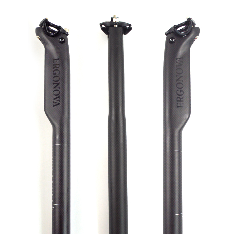 new carbon fiber MTB road bike seatpost bicycle parts tube 27.2 30.8 31.6*400mm reduce resistance seat post 3k matte finish