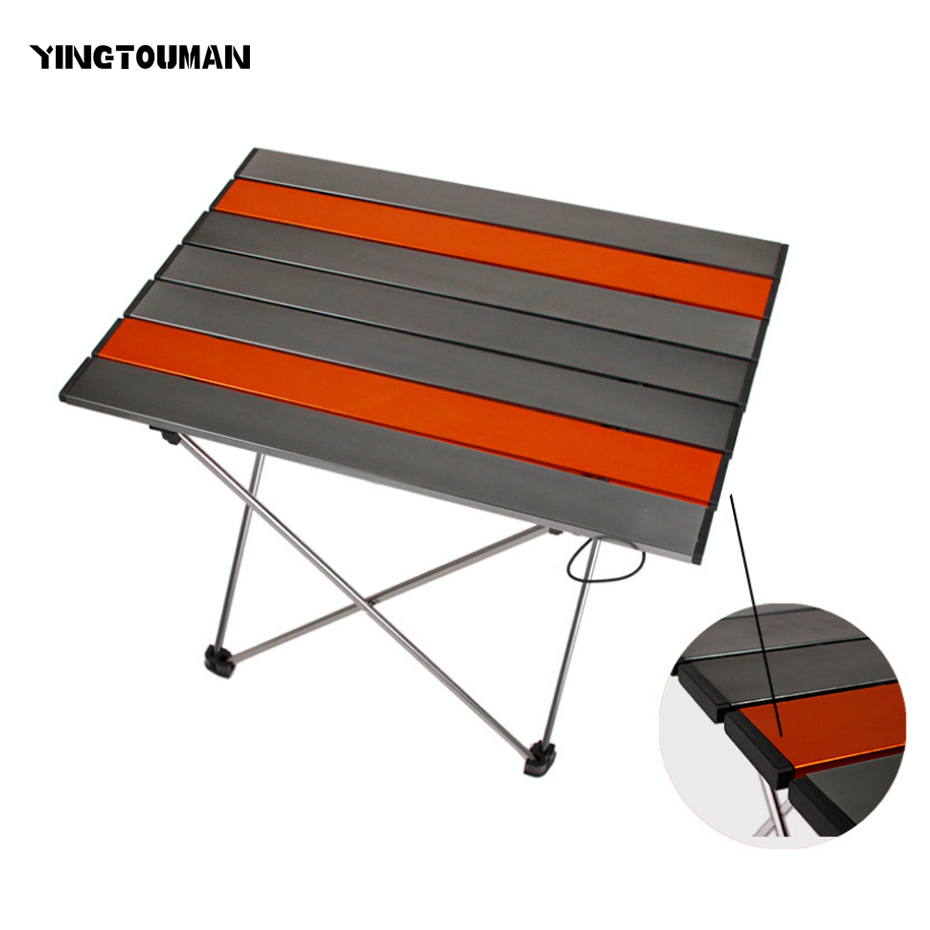 YINGTOUMAN Outdoor Tableware Portable Foldable Folding Table Desk Camping Outdoor Picnic Table Ultra light Tableware Desk
