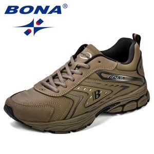 Image 4 - BONA/мужская повседневная обувь; Брендовая мужская обувь; Мужские кроссовки на плоской подошве; Удобная дышащая обувь из микрофибры для отдыха; Трендовый стиль ПРОМО КОД: 250VIP