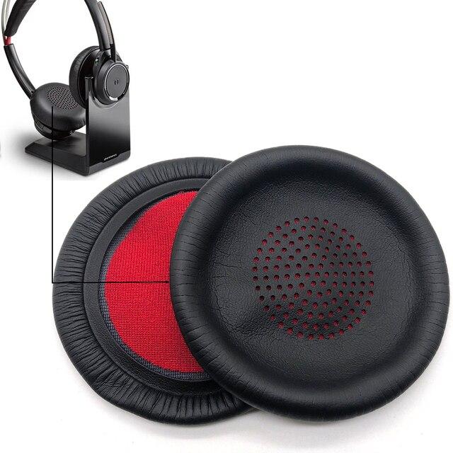Almohadillas de repuesto para los oídos, almohadillas para los oídos, piezas de reparación de almohada, cubierta para Plantronics Voyager Focus UC B825 PLT BackBeat Sense Headphone