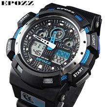 13f0dd5819df Moda masculina deportes Militar pulsera 2016 Nuevo reloj hombres epozz  marca 100 M Dive LED Digital