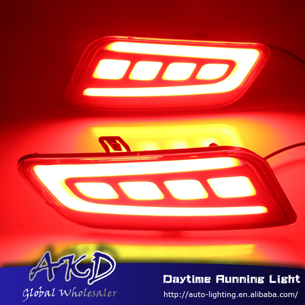 AKD Car Styling for Ford Everest Endeavour Rear Bumper Light for Everest 2016 Rear Fog Lamp DRL Signal Brake Accessories car front bumper mesh grille around trim racing grills 2013 2016 for ford ecosport quality stainless steel