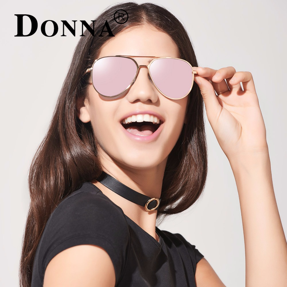 98a5c00ab5 Donna Aviator Sunglasses Women Vintage Rose Gold Mirror Sunglasses Brand  Design HD Polarized Glasses Men Pilot Gafas De Sol D24-in Sunglasses from  Apparel ...