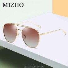 MIZHO BRAND DESIGN Metal Sunglasses Women Polaroid Fashion 2019 Ladies Sun Glasses Female Vintage Shades Oculos de sol Feminino