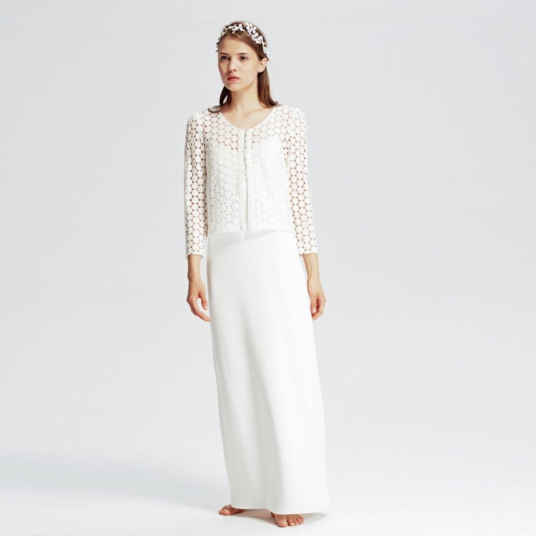 White Wedding Dress Jacket: Fairy Spaghetti Straps V Neck Chiffon Vestidos De Novia