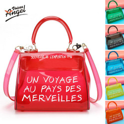 Bolsas de luxo para as mulheres 2019 moda geléia transparente saco transparente ombro sac un voyage au pays des merveilles bolsa transparente