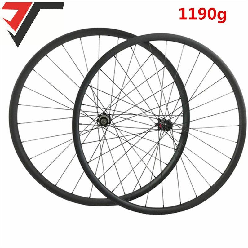 TRIPS 1190g Super Light 29er MTB XC race hookless mountain bike carbon wheels UD matte D411