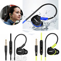 Waterproof Earphones In Ear Earbuds HIFI Sport Headphones Bass Headset With Mic For Samsung S5 S6 S7 Note 5 For HTC LG