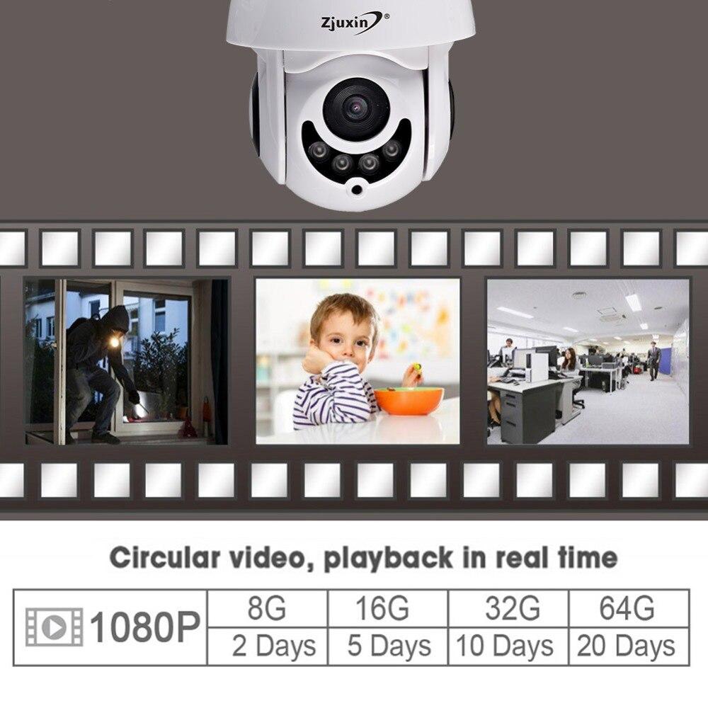 Zjuxin câmera ip wifi 2mp 1080 p