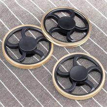 цены Hand Spinner Round Gyro Torqbar Brass Finger Toy EDC Focus ADHD Autism