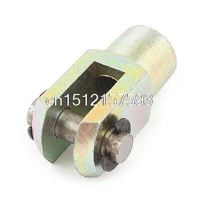 Brass Color 1/8BSP Male to M8 Female Threaded Y Joint Cylinder Rod Clevis End m4 male m 25 30 35 40 45 50 55 60 mm x m4 6mm female brass standoff spacer copper hexagonal stud spacer hollow pillars