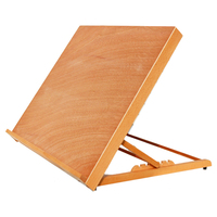 Art Supplies Portable Drawing Table Easel Adjustable Sketch Board Painting Stand Wood Easel For Artist