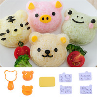 1 Set Cute Bear Pig Frog Little Tiger Rice Ball Mold Sushi Mold DIY Cute Rice