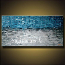 Hand Painted High Quality Seascape Wall Art Modern Palette Knife Painting Abstract Oil Painting Canvas Wall Living Room Artwork