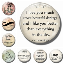 Love Letters Refrigerator Magnets 30MM Magnet Fridge Magnetic Stickers Glass Ornaments Lover's Home Decoration Valentine's Gift alphonse mucha s art nouveau refrigerator magnets 30mm magnet fridge glass dome ornaments magnetic stickers vintage home decor
