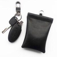 1 peça Bloqueador de Sinal da Chave Do Carro Caso Fob Keyless entrada RFID Blindagem Saco Preto Novo Estojo de chaves p/ carro     -