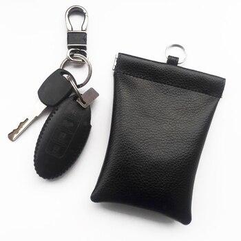 1 Stück Auto Schlüssel Signal Blocker RFID Abschirmung Fall Keyless Entry Fob Tasche Schwarz Neue
