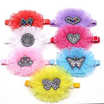 50/100pcs Dog Wedding Accessories Dog Bow Tie Rhinestone Lace Pet Accessories Dog Supplies Dog ties Dog Grooming Accessories фото
