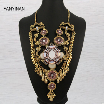 vintage design  chain National style Tibet Ethnic Jewelry  Newest long  jewelry Pendant Necklace statement jewelry