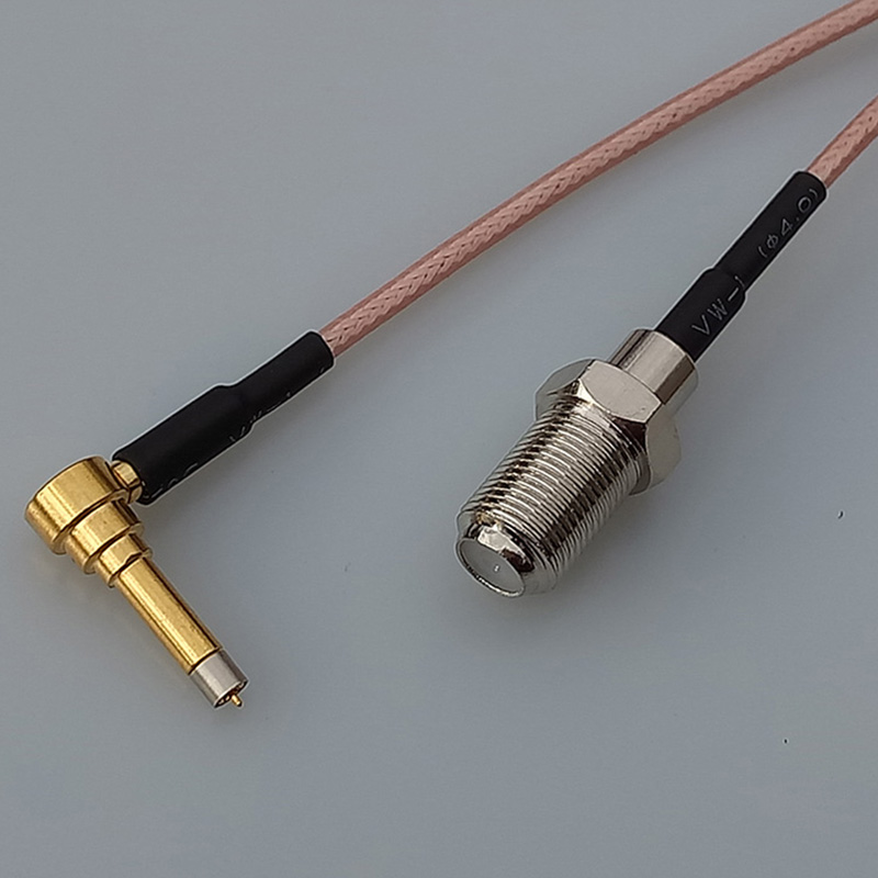 Coaxial RF Cable F Female Jack Switch MS156 Right Angle Extension pigtail cable RG316 15CM 6 Adapter ошейник для собак glg звезда регулируемый длина 55 см