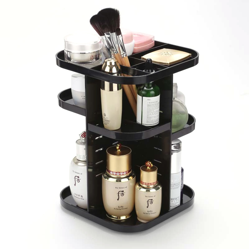 Black White Cosmetic Makeup Brush Lipstick Storage Holders Racks Desktop Organizer Multi-layer Acrylic Rack Korean Dresser