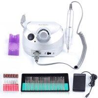 35000RPM Nail Electric Manicure Machine 30 Pcs Drill Bits Pedicure Milling Cutter @ME88