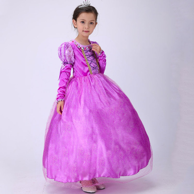 kids dresses for girls 8 years rapunzel sleeping beauty wedding dress halloween costumes princess dress up