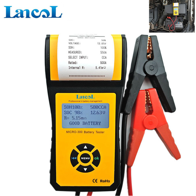 Us 97 28 5 Off Car Battery Tester Auto Cca Battery Analyzer With Thermal Printer Micro 300 Automotive Battery Capacity Tester In Battery