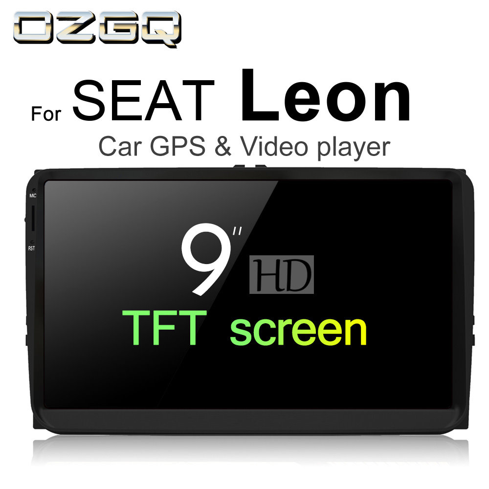 OZGQ Android 7.1 Car Player For SEAT Leon 2005~2012 HD Screen Auto GPS Navigation Bluetooth Radio TV Audio Video Music Stereo