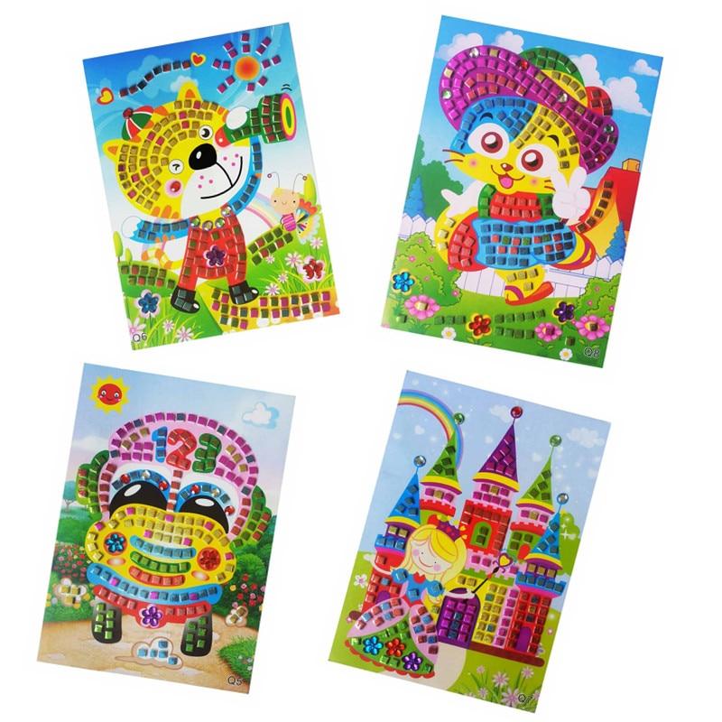 Happyxuan 12 unids / lote Glitter Crystal Eva Mosaico Pegatinas - Juegos y rompecabezas - foto 3