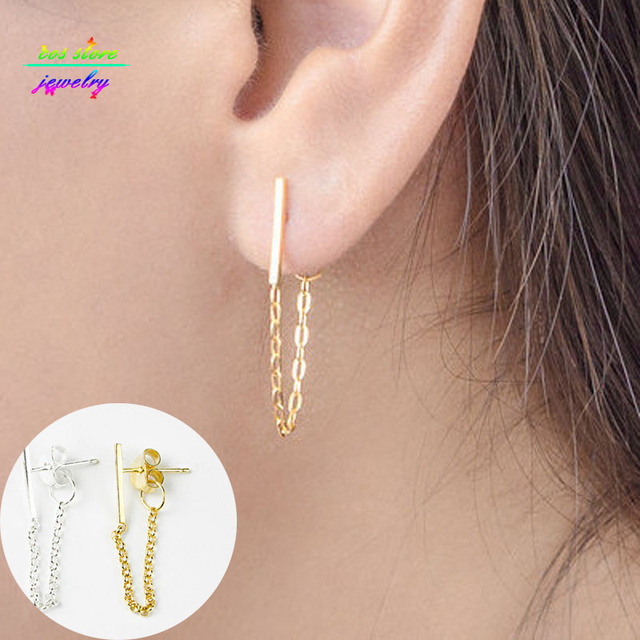 Fashion Earings Jewlery New Brief Contemporary Minimalist Bar Stud Earrings For Women Back Earrings Gold Long.jpg 640x640 - Fashion Earings Jewlery New Brief Contemporary Minimalist Bar Stud Earrings For Women Back  Earrings Gold Long Earrings
