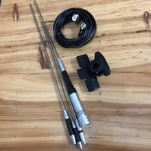 Çift bant SG 7900 araba telsiz anten 144/430MHz yüksek dBi kazanç araba radyo anten + RB 400 klip + 5M besleyici