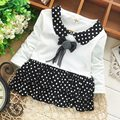 CLEARL STOCK!!! SALE PRICE t-shirt children's lace clothing Girls Long Sleeve  Tops baby t-shirt tees S0670