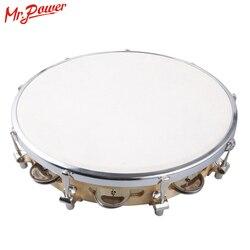 10 pandereta CAPOIRA caja de cuero Pandeiro Samba Brasil madera Tamborine Precussion instrumento musical para la venta