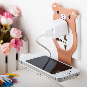 Ładowarka do telefonu komórkowego Adapter uchwyt do ładowania wiszący stojak wspornik podtrzymujący ładunek wieszak półka półka haczyk do telefonu komórkowego półka