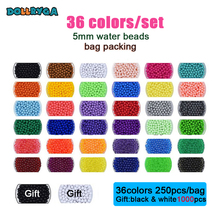 DOLLRYGA 12/24/36colors Beads Puzzle jouet enfant Crystal Color aqua DIY  Perlen Water Spray Set Handmade Magic Toy for Children