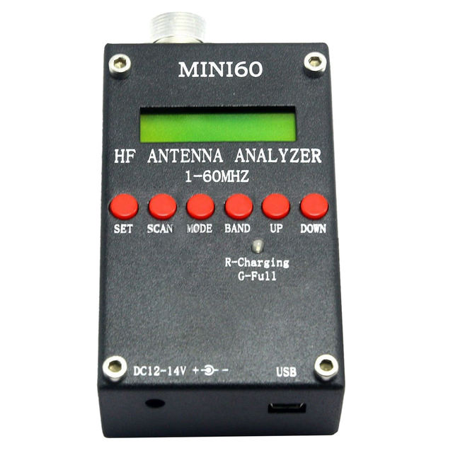 US $143 61  Practical Mini60 Sark100 HF ANT SWR Antenna Analyzer Meter  Bluetooth Android APP Black-in Satellite TV Receiver from Consumer  Electronics