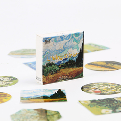 45PCS/set Van Gogh Reproduce Classic Decorative Stickers Adhesive Stickers DIY Decoration Diary Scrapbooking Sticker Boxed